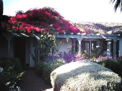 Innenhof Spanischer Häuser carmelcalifornia